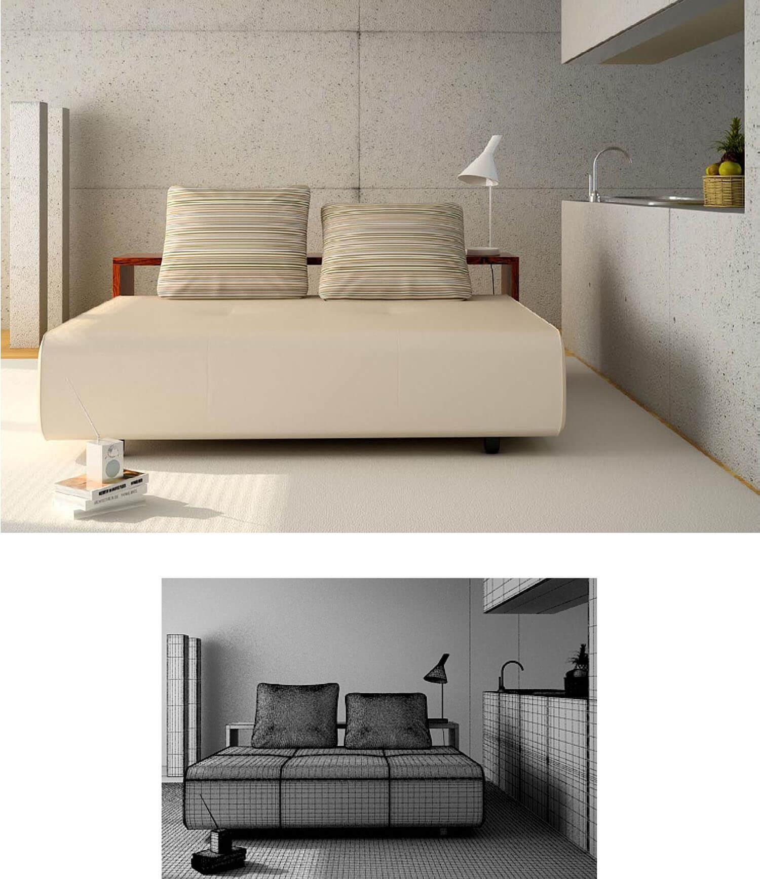 Không gian nội thất phòng ngủ được bài trí một cách gọn gàng