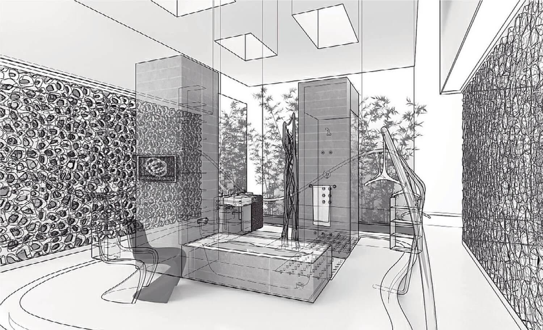 Phối cảnh 3D Nội thất phòng tắm