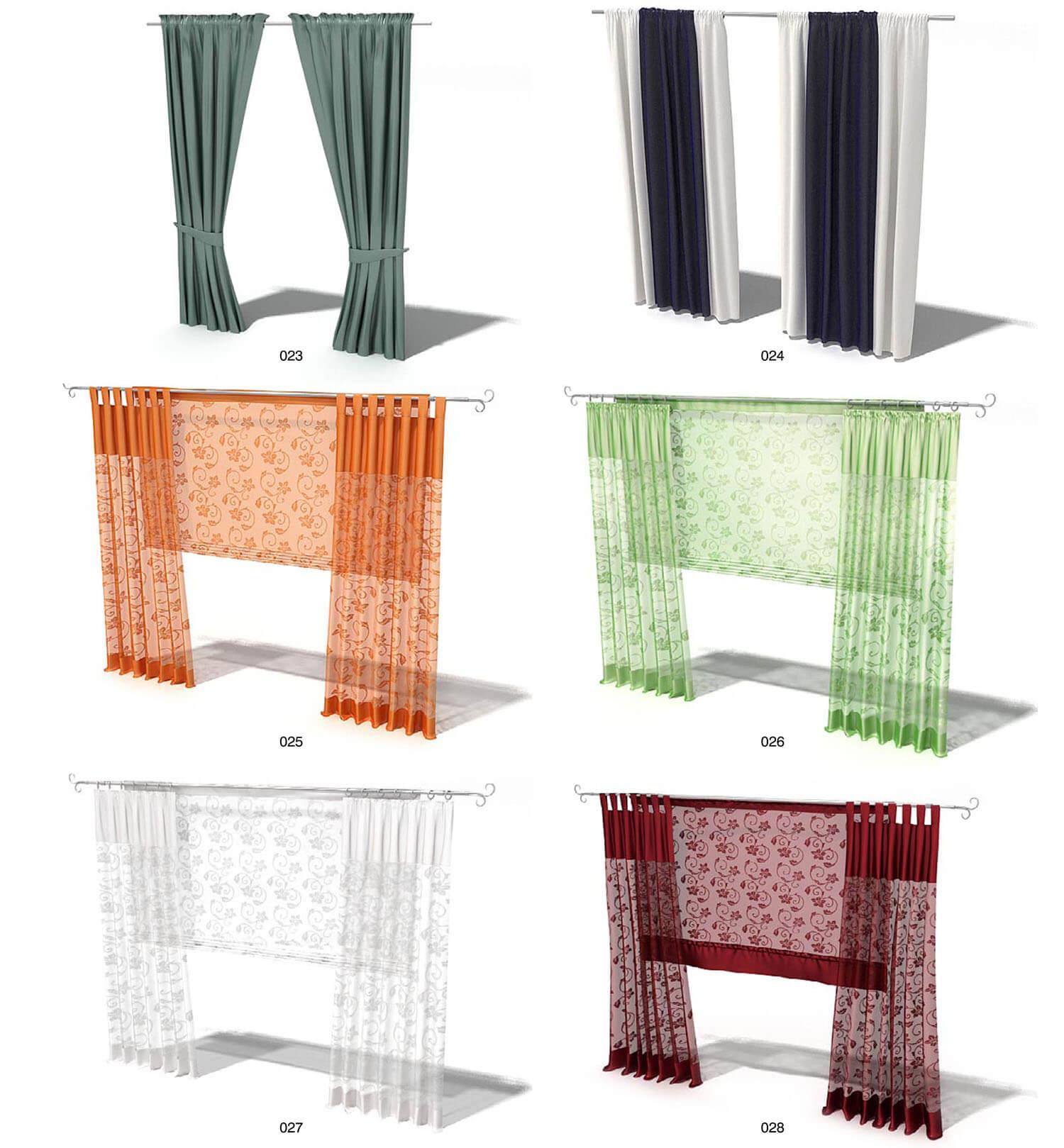 Còn các loại rèm đơn giản thì lại được tô điểm bởi màu sắc nổi bật