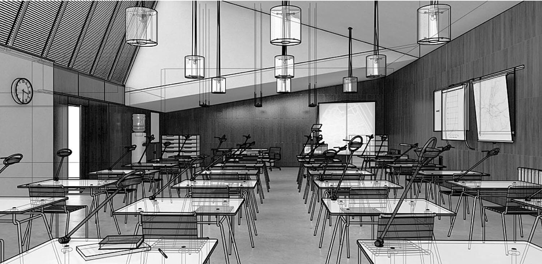 Bản vẽ phối cảnh 3D nội thất phòng họp