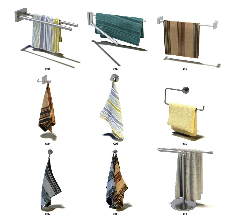 Các mẫu móc treo khăn inox cho nhà tắm