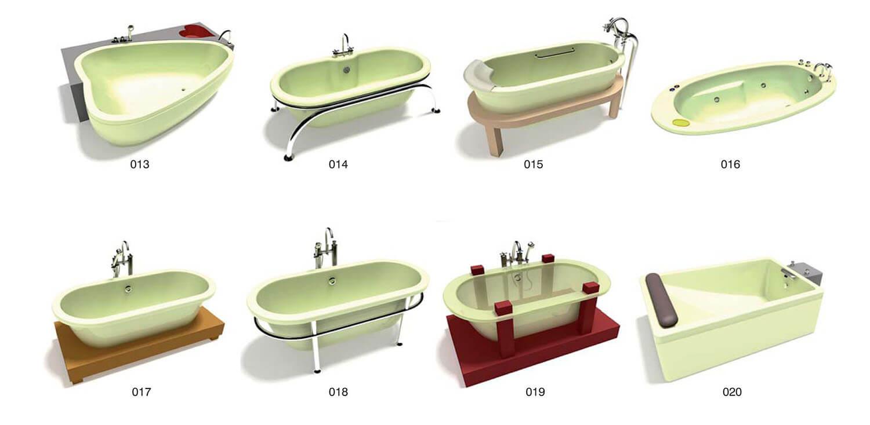 Những mẫu bồn tắm âm sàn cho phòng tắm thêm rộng