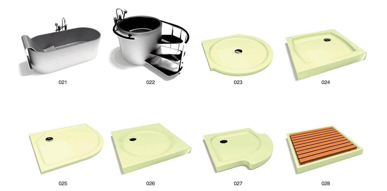 Các mẫu bồn tắm sử dụng chất liệu kim loại