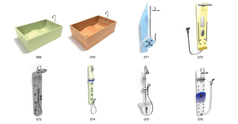 Những mẫu vòi hoa sen hiện đại dùng cho tắm đứng