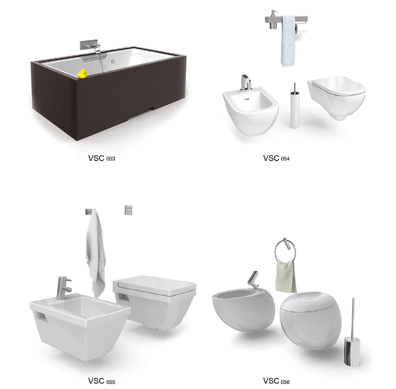 Các mẫu bồn vệ sinh với thiết kế độc đáo