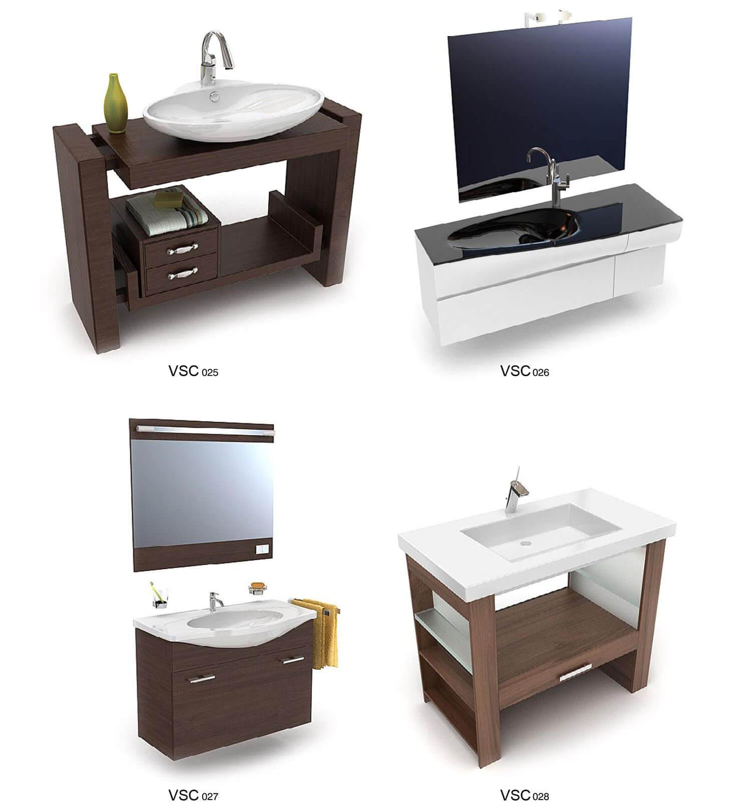 Các thiết kế tủ chậu bằng gỗ tiện dụng