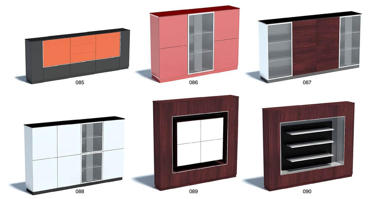 Tủ kệ TV với màu da cam, màu hồng