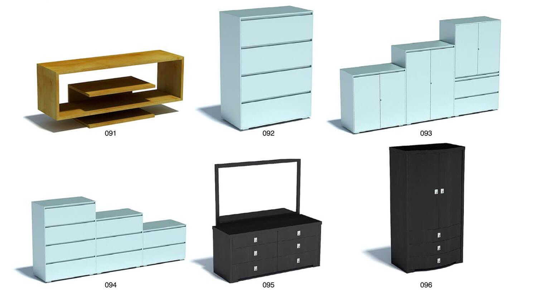Các mẫu tủ đựng đồ trong phòng ngủ với màu sơn xanh