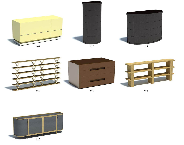 Một số mẫu tủ bằng gỗ công nghiệp uốn cong lạ mắt