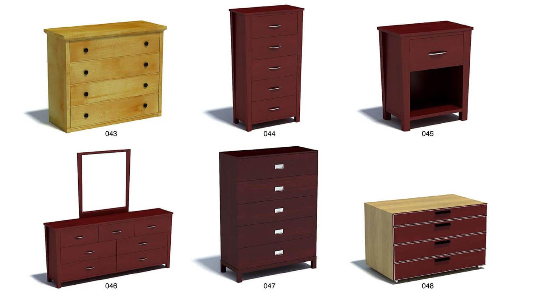 Các kiểu tủ gỗ được đóng bằng gỗ tự nhiên với màu sắc kết hợp