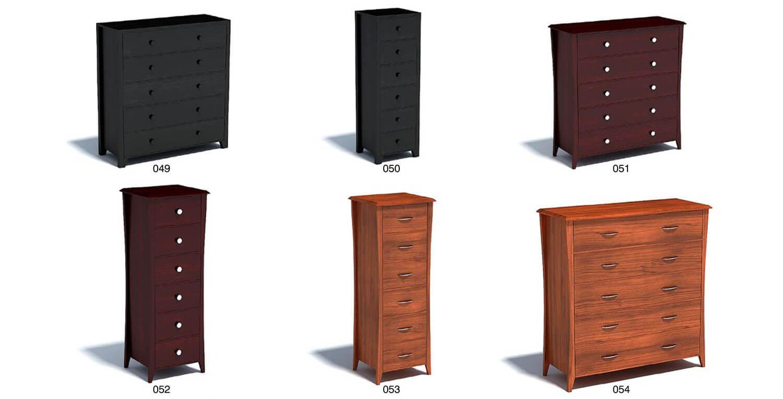 Chất liệu gỗ tự nhiên có thể tạo nên các dáng tủ cong
