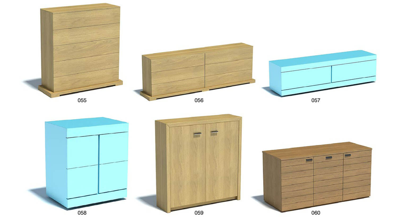 Chất liệu gỗ nhân tạo thường áp dụng nhiều hơn với tủ thẳng, cánh phẳng