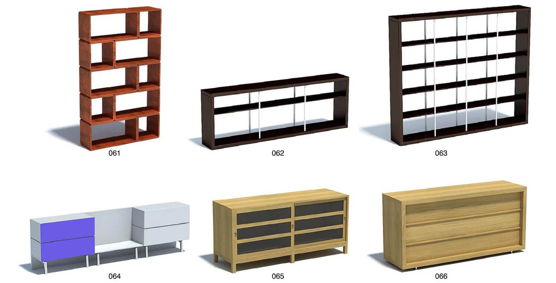 Bộ giá để sách, đĩa và đồ trang trí cho phòng khách