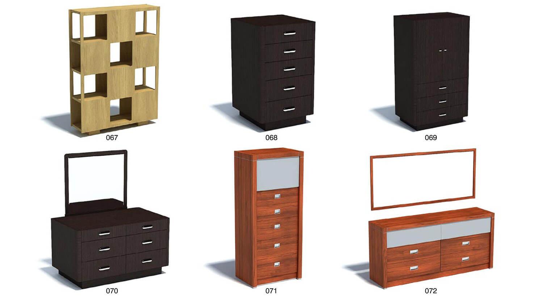 Tủ trang trí, bàn phấn cho phòng ngủ hiện đại