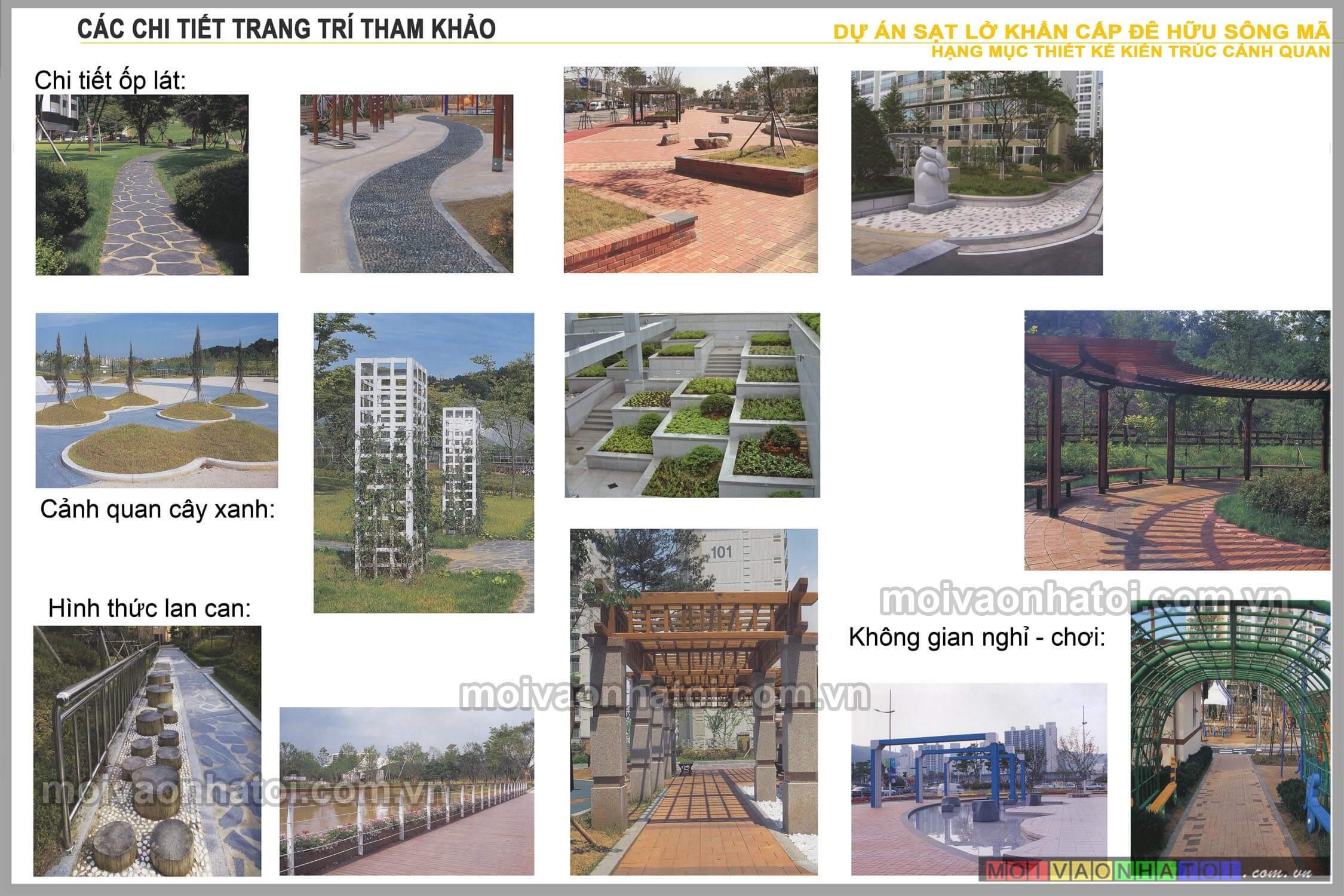 Các chi tiết tham khảo thiết kế kiến trúc cảnh quan