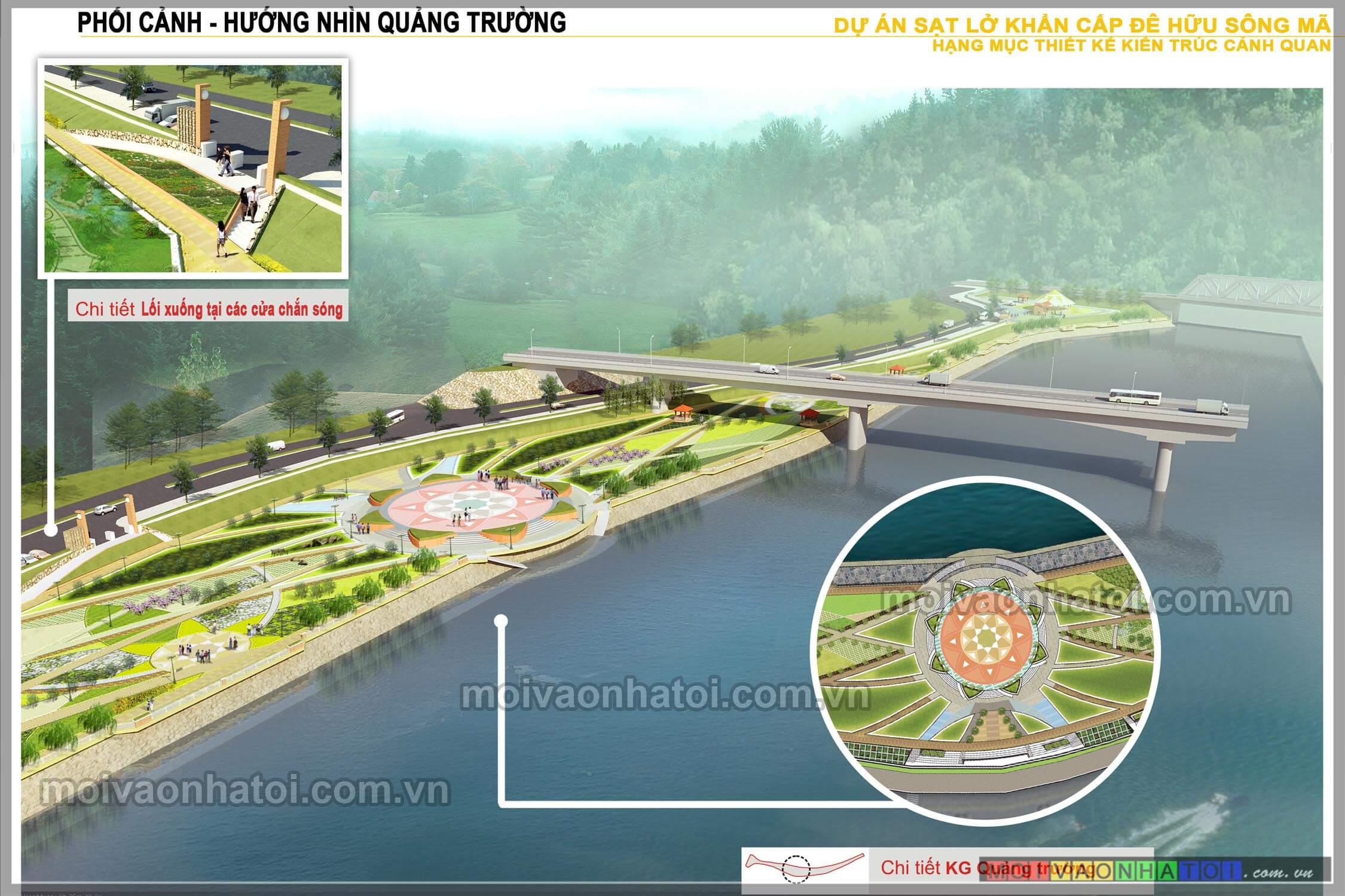 Phối cảnh Quảng Trường - bản thiết kế 3D