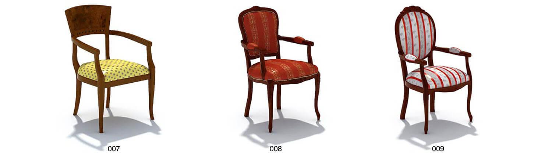 Ghế gỗ bọc da nỉ