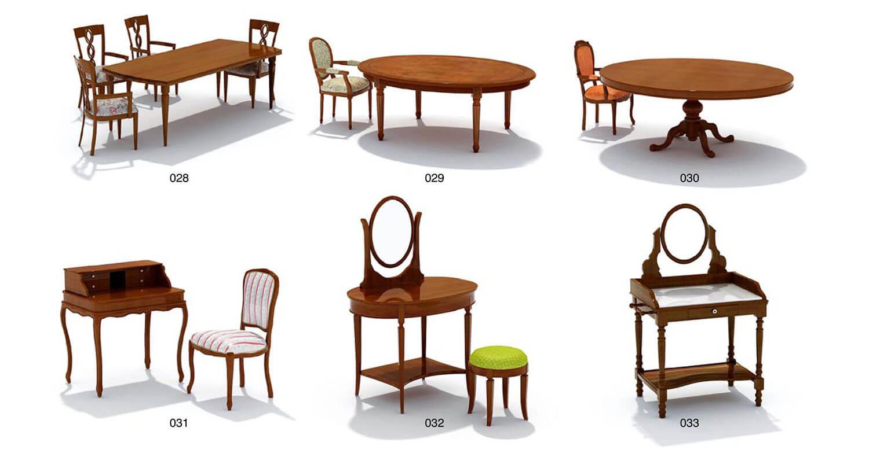 Các mẫu bàn ăn và bàn phấn trang điểm cổ điển