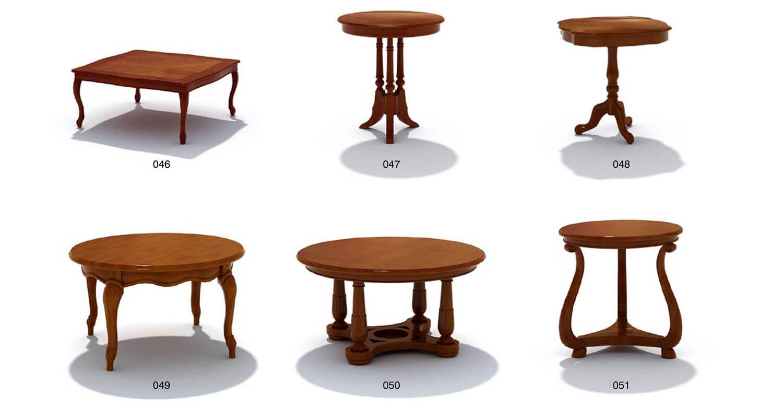 Các mẫu bàn cafe cổ điển, bàn ăn, bàn trà phòng khách