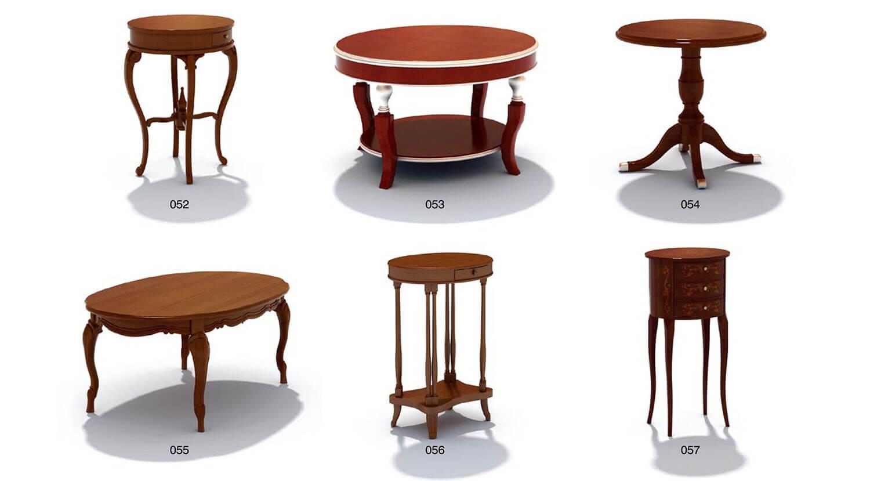 Các loại bàn cổ điển có mẫu mã rất đa dạng