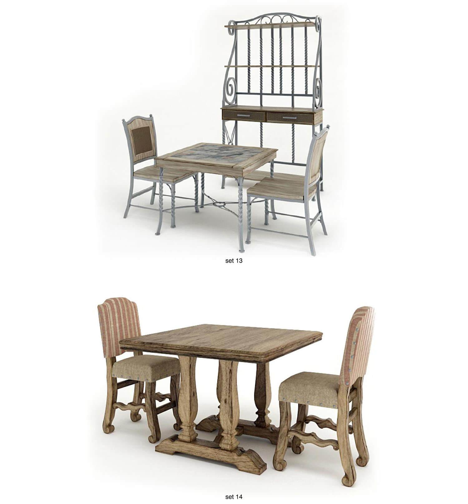 Các bộ bàn ghế cổ điển trong quán cafe, quán rượu