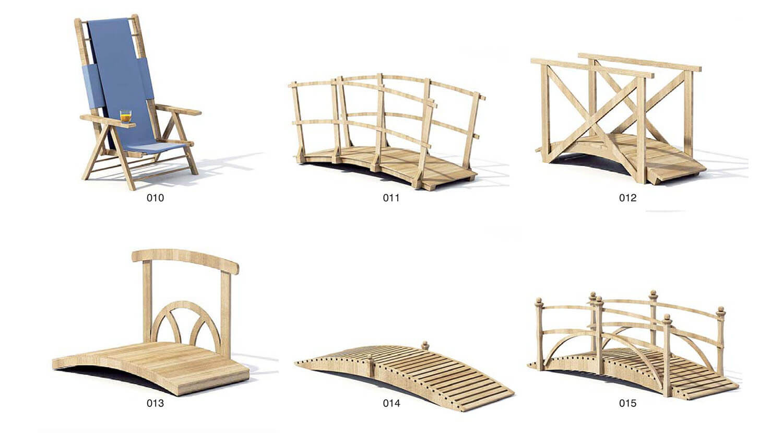 Cầu gỗ trang trí sân vườn tiểu cảnh