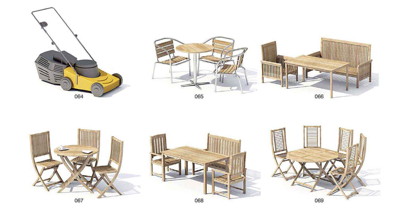 Ghế gỗ ngoại thất sân vườn