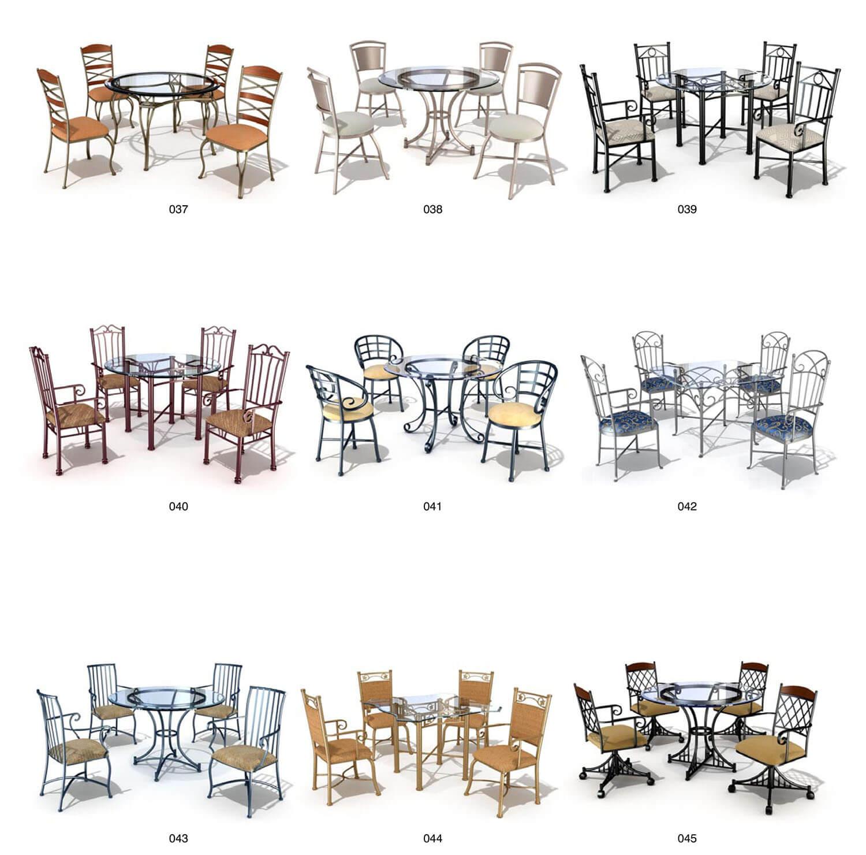 bàn ghế sắt nhà hàng, cafe cổ điển