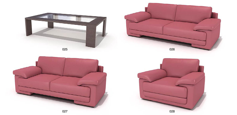 Bộ bàn ghế sofa màu hồng lạ mắt
