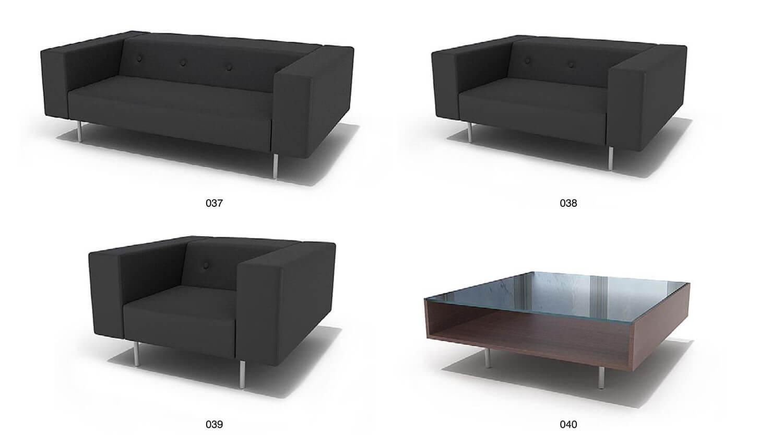 Bộ sofa nỉ đen hiện đại