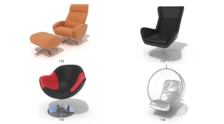 Các bộ ghế đơn thư giãn từ ghế massage đến ghế xích đu, đọc sách