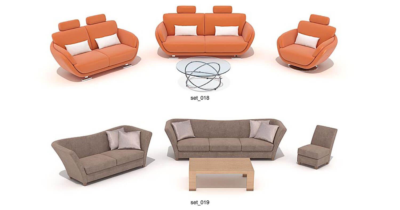 Sofa sa lông màu nâu và màu da cam, đơn giản, dễ áp dụng hơn