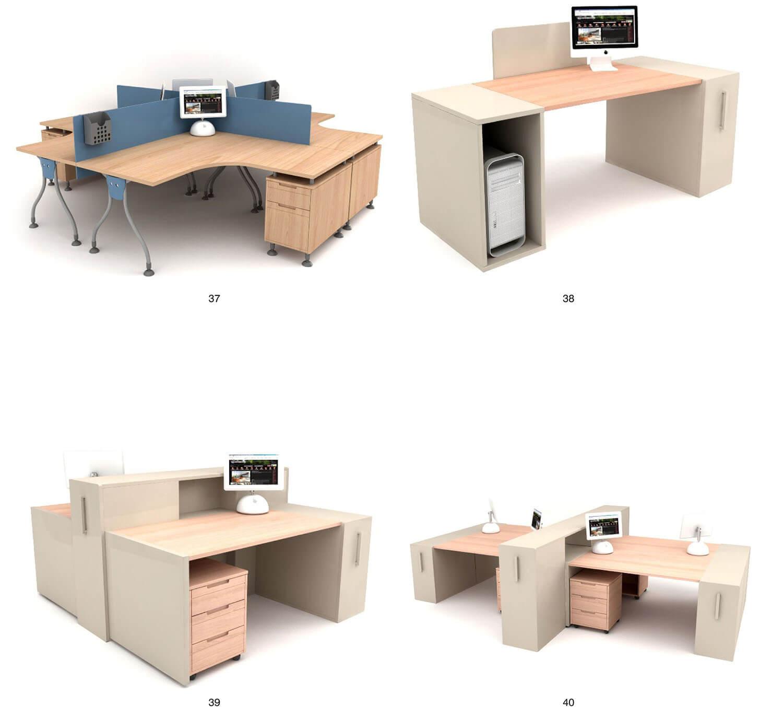 Các mẫu bàn nhân viên có thể lắp ghép tùy biến dễ dàng