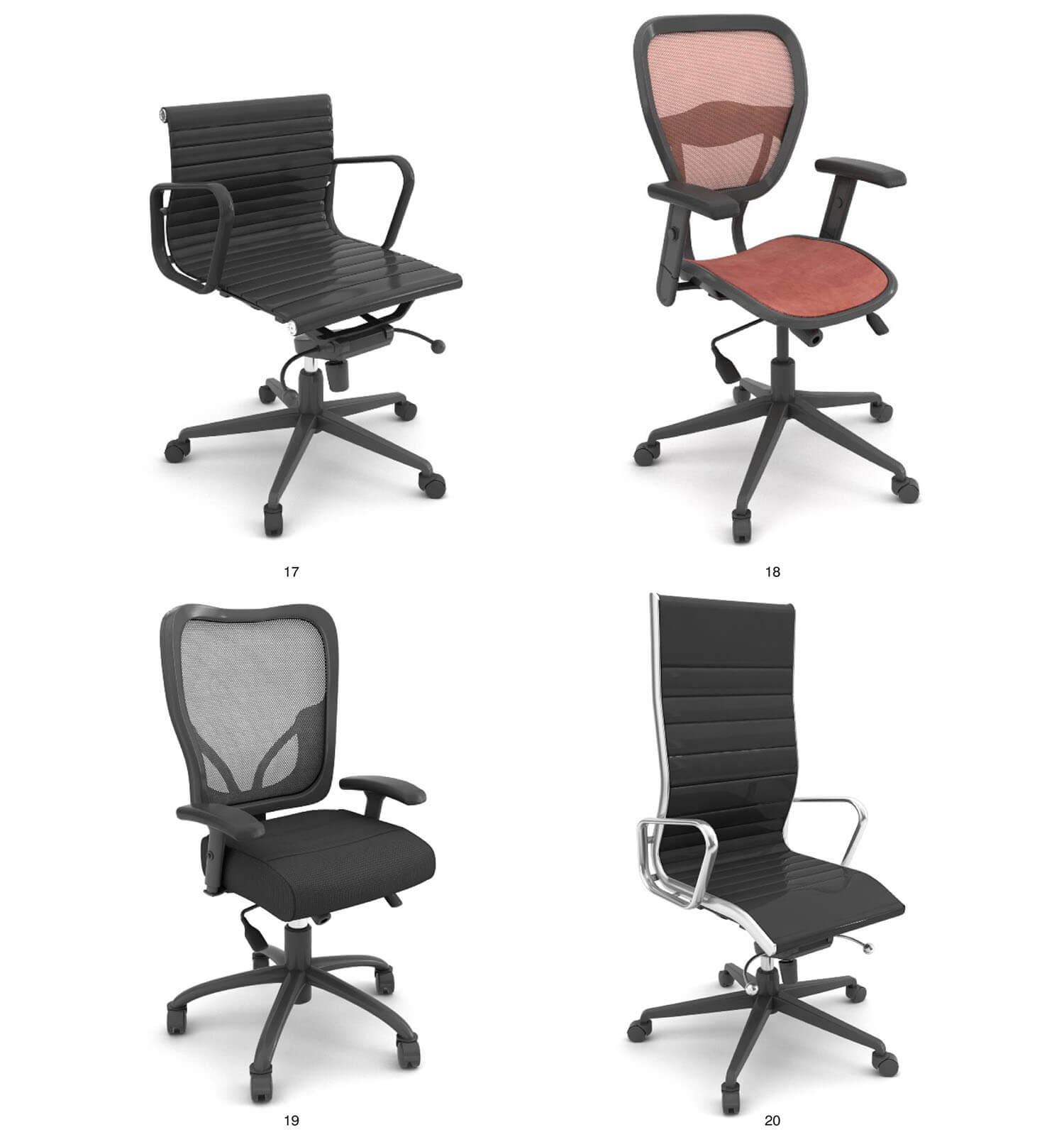 Các mẫu ghế xoay kiểu dáng đơn giản thích hợp cho văn phòng làm việc