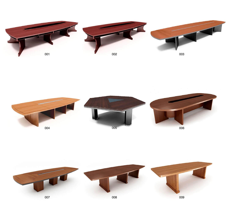 Các mẫu bàn họp bằng gỗ thiết kế theo hình chữ nhật dài