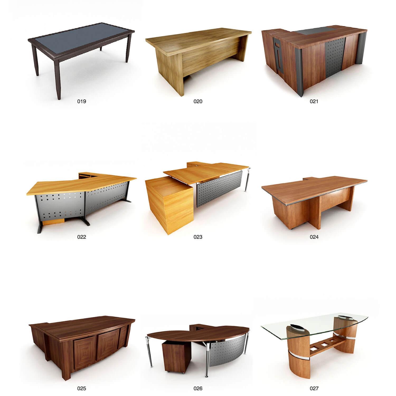 Một số bàn làm việc kiểu dáng độc đáo kết hợp tinh tế giữa gỗ và kim loại