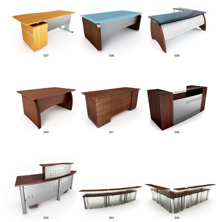 Mẫu bàn làm việc gỗ ốp nhôm hiện đại