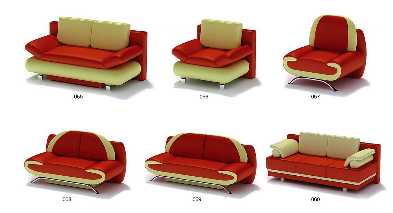 Với các màu nổi như đỏ hoặc vàng, các bộ ghế salon tạo nên vẻ trẻ trung, sinh động