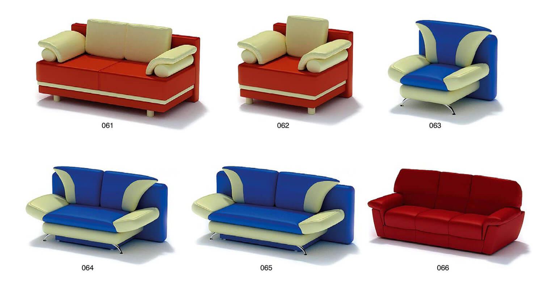 ghế sofa bọc da màu đỏ xanh cho quán cafe karaoke