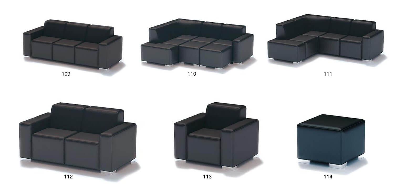 Sofa màu đen sang trọng được ghép bởi các block, linh hoạt