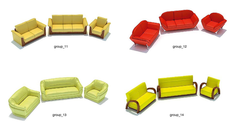 Màu sắc sofa khá sặc sỡ cho các không gian nội thất