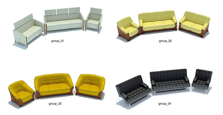 Sofa màu ghi cho phòng chật, và màu đen đẹp sang trọng