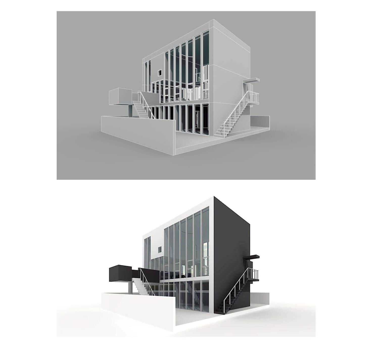 Mẫu biệt thự với khoảng sân rộng cùng cầu thang hai bên tiện lợi