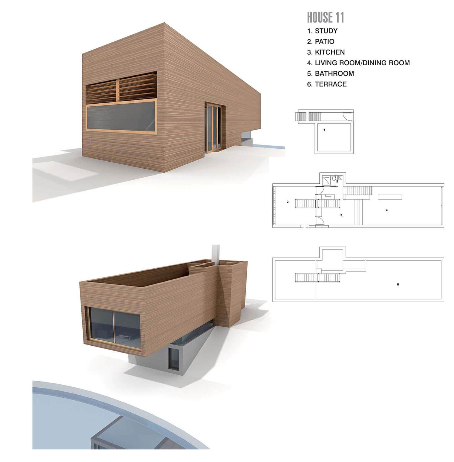 Ngôi nhà với hình khối và kết cấu khủng, như bay ra phía hồ nước