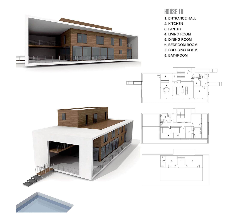 Nhà bằng gỗ kết hợp bê tông
