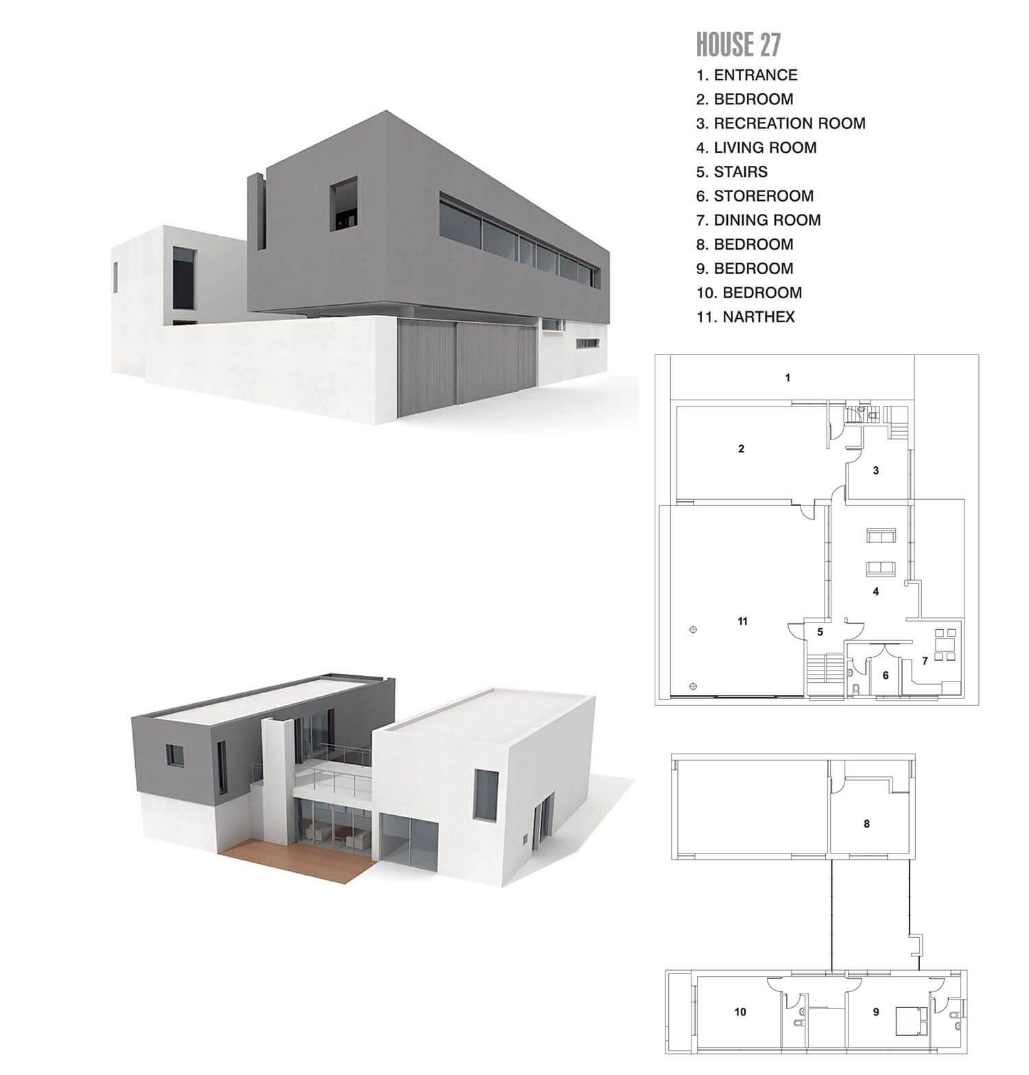 Căn nhà với 2 màu ghi và màu trắng, mảnh ghép của trò chơi xếp hình
