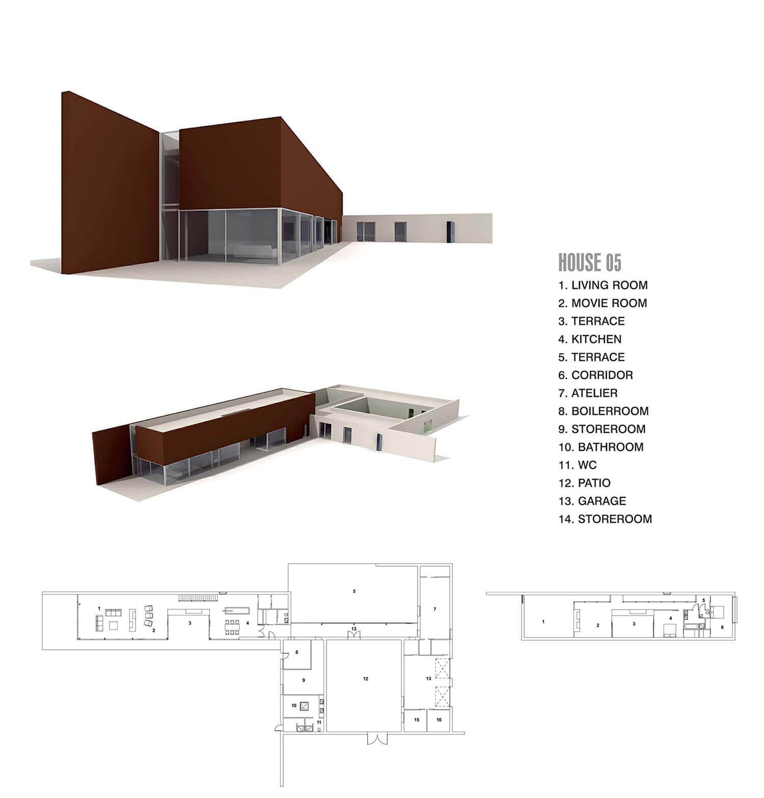 Biệt thự thoáng rộng dưới tầng 1 nhưng lại kín, đặc ở tầng 2