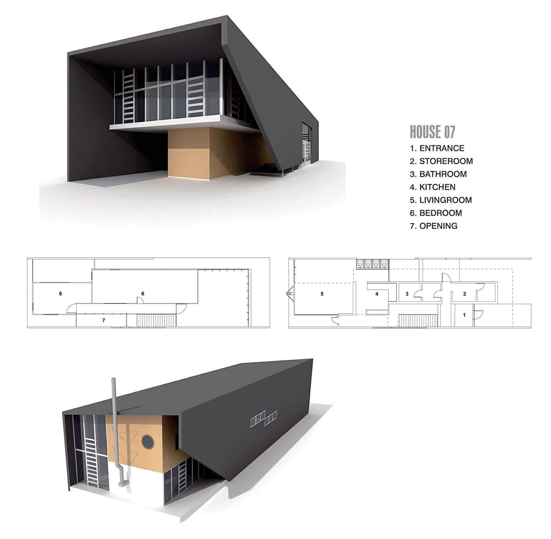 Ngôi nhà với mái bê tông dốc dạng khủng