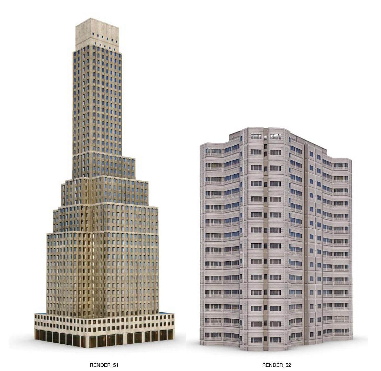 Nhà cao tầng với muôn hình dáng, màu sắc