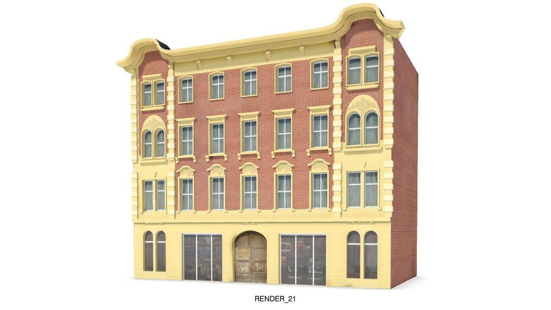 Mẫu nhà có kiểu dáng cổ điển giống các trường học, bệnh viện thời xưa
